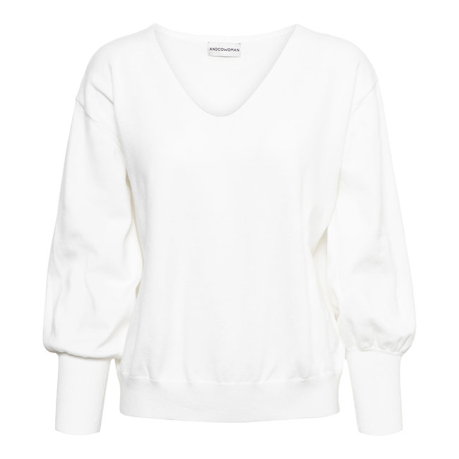 &Co woman bloom pullover off white