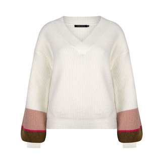 YDENCE knitted sweater vianna army pink