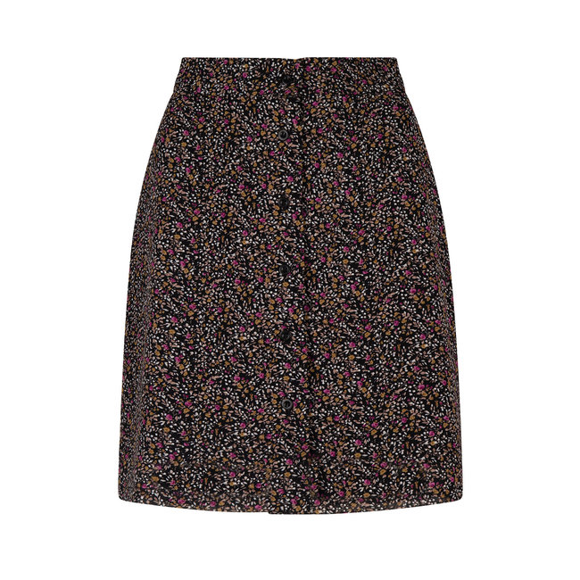 YDENCE skirt leonie black/flower