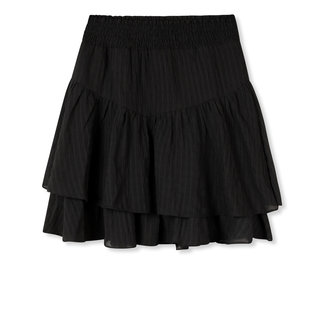 Department woven flowy skirt black