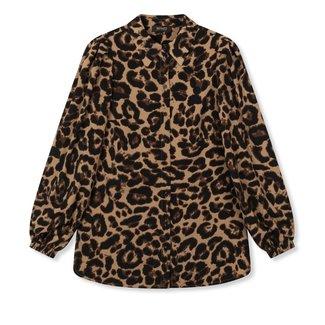 Department woven leopard blouse
