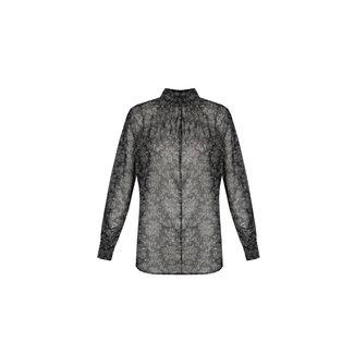 G-Maxx keet blouse zwart/roomwit