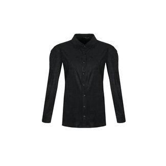 G-Maxx kristie blouse zwart suede