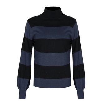 G-Maxx trui zwart/jeans blauw