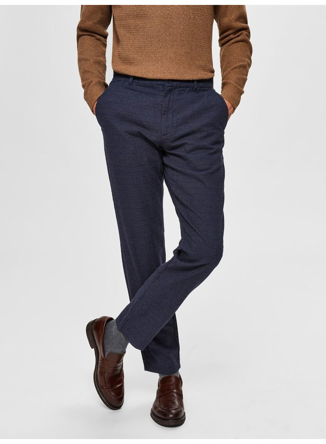 Selected pantalon navy/check L34