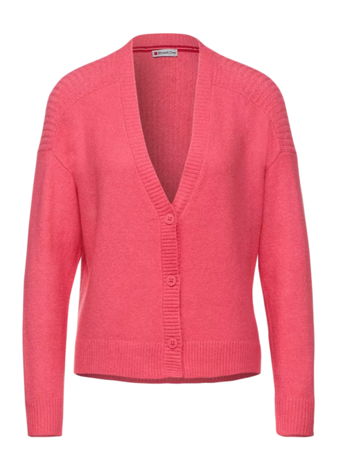 StreetOne cable cardigan pink