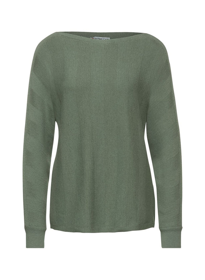 StreetOne pullover fine knit green