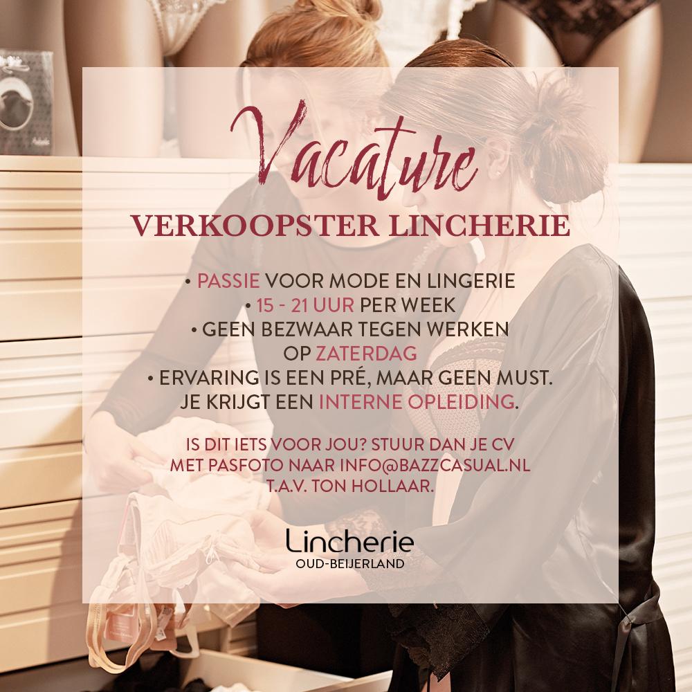 Vacature Verkoop Medewerkster - Lincherie Oud-Beijerland