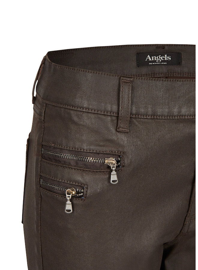 Angels coated jeans donkerbruin