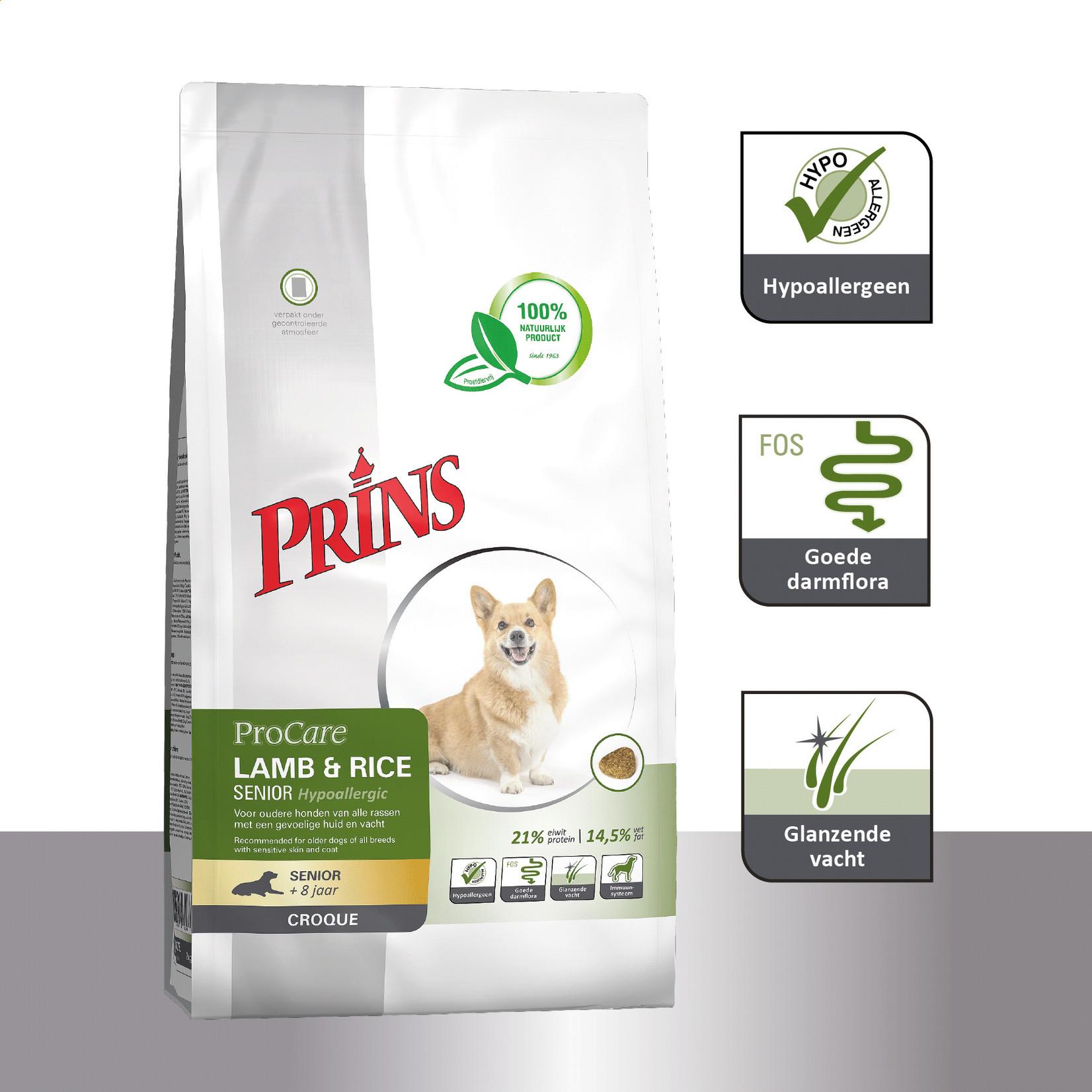 Prins Petfoods Prins Lamb-Rice Senior Croque