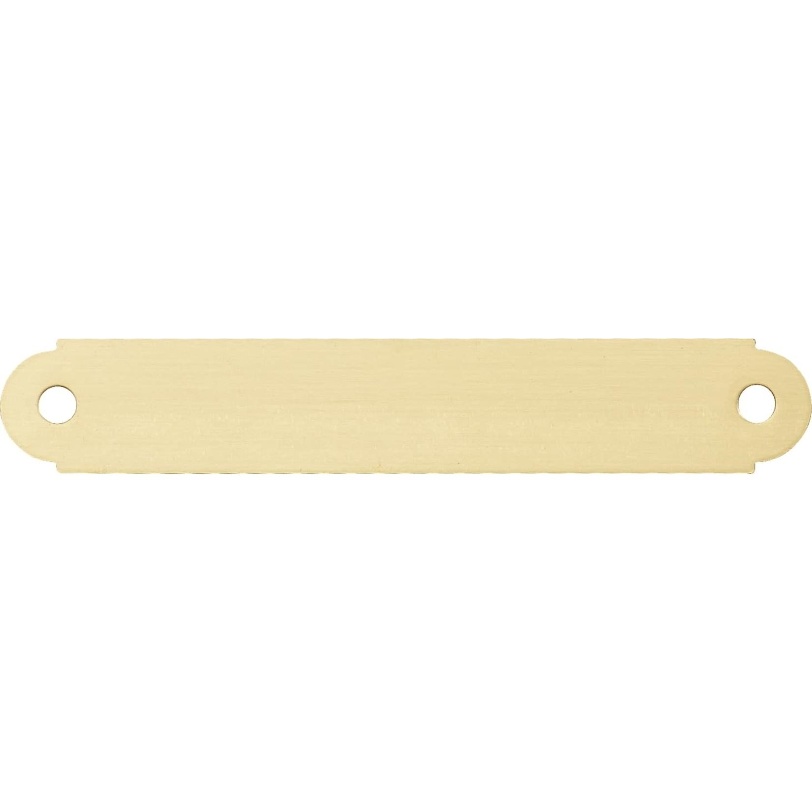 Smulders Diervoeders Messing plaat rond: 11,4 x1,9 cm