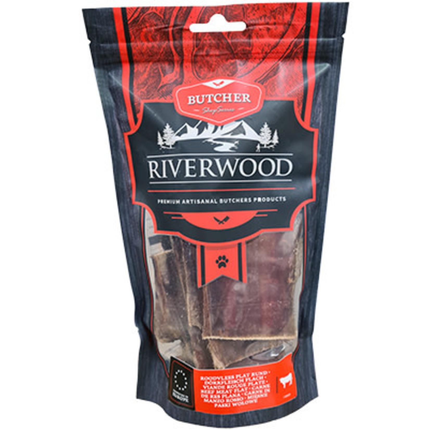 Riverwood Riverwood Roodvlees plat rund (185 gram)