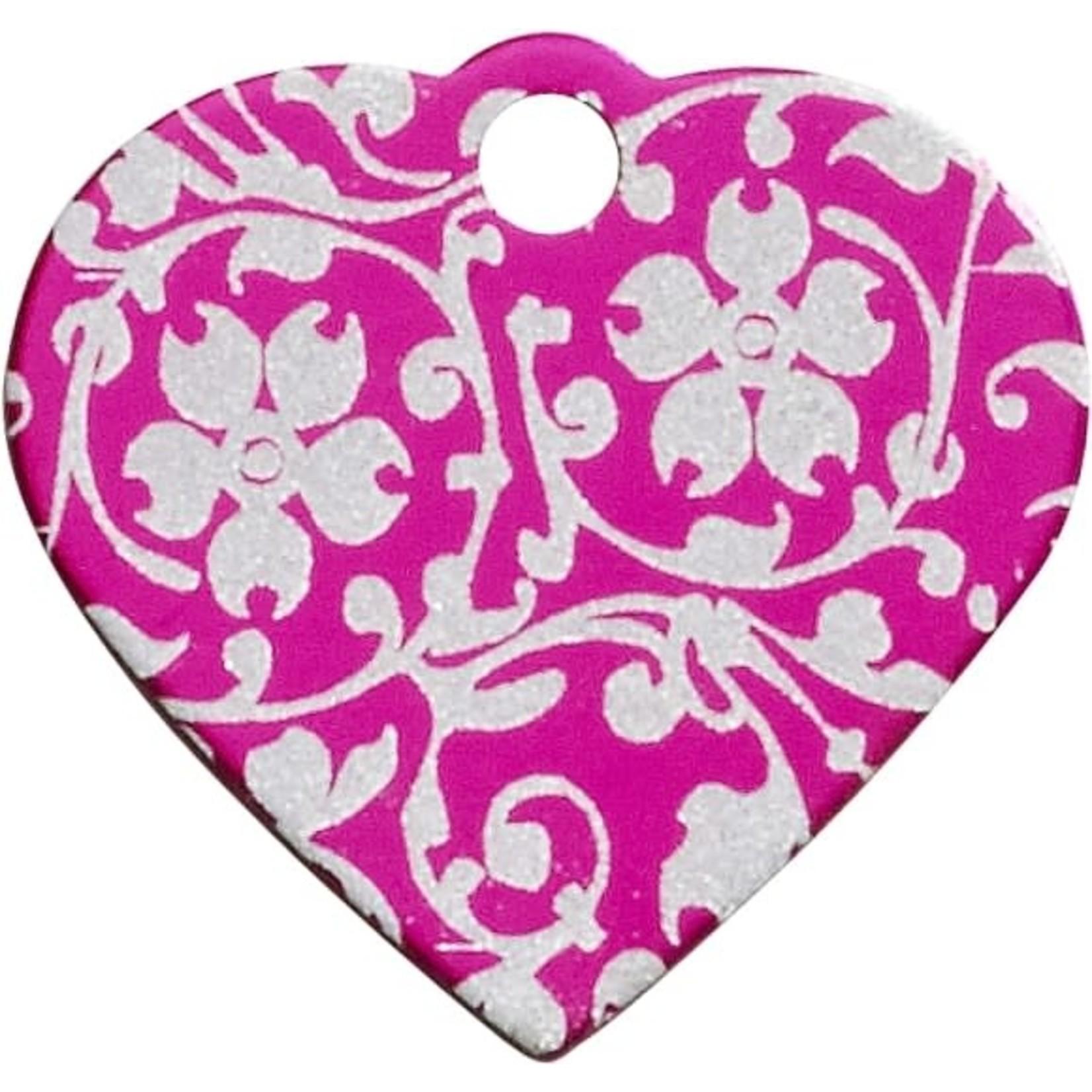 Smulders Diervoeders Penning Hartje Flower Pink