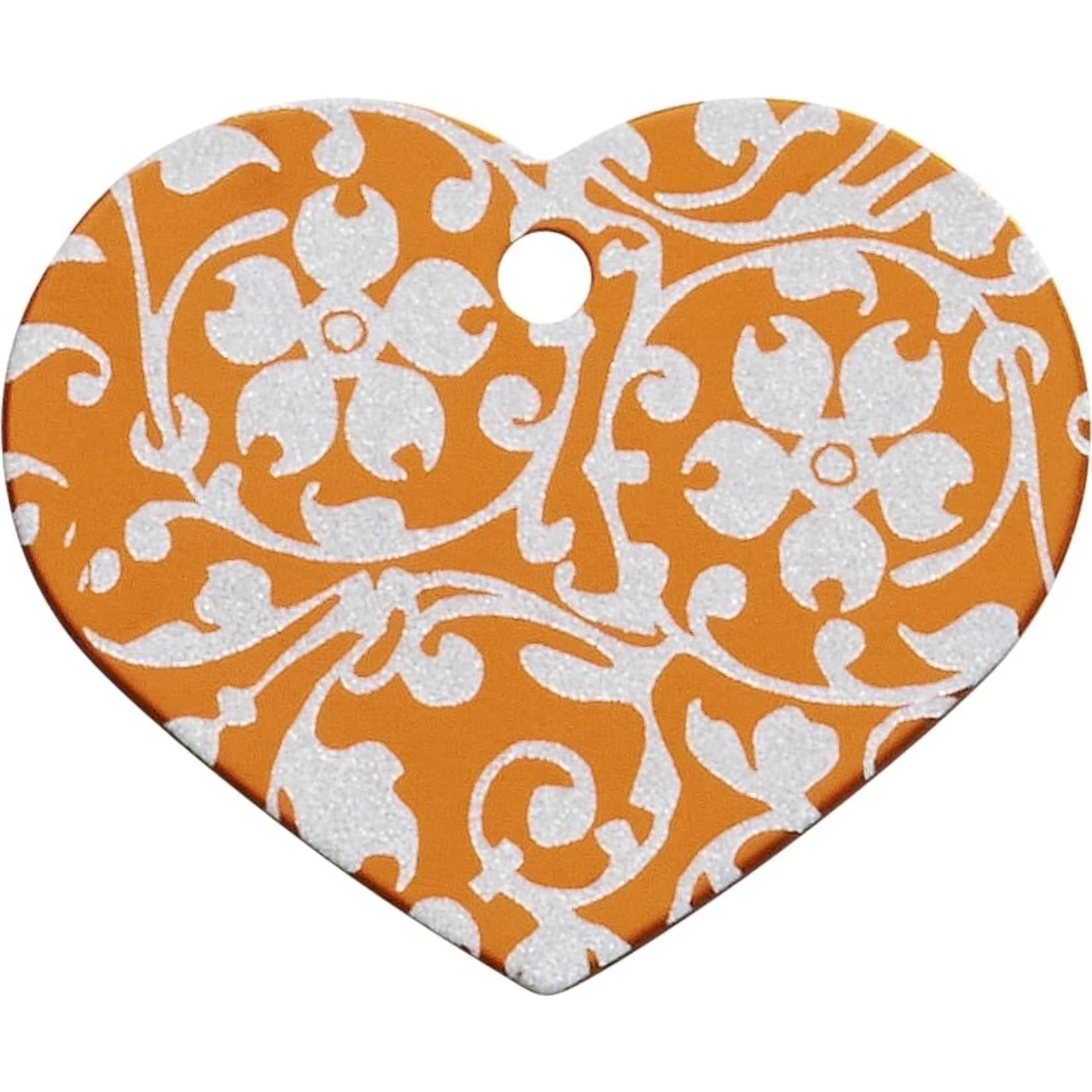 Smulders Diervoeders Penning Hartje Flower Oranje