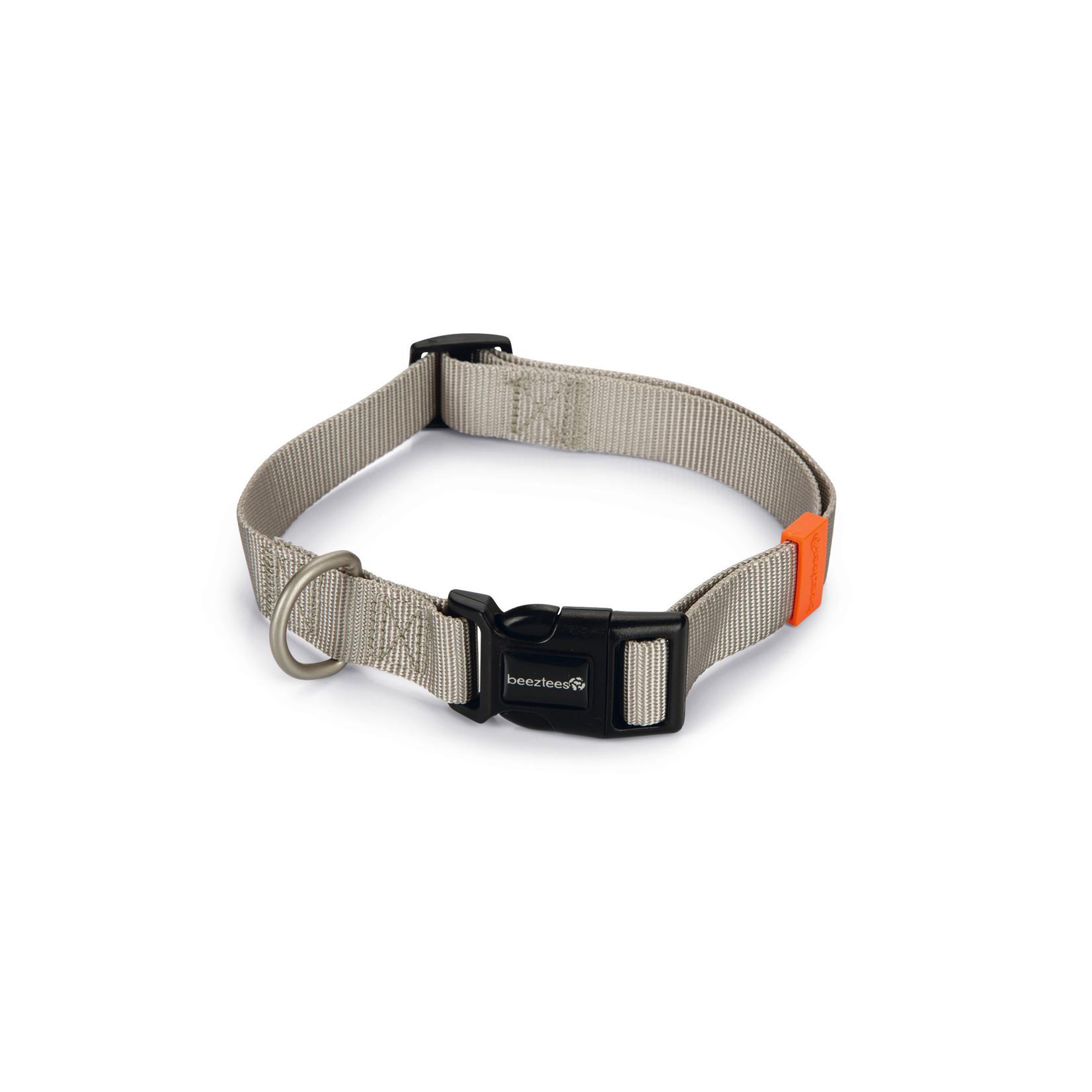 Beeztees BZ Nylon Halsband Uni  Lichtgrijs