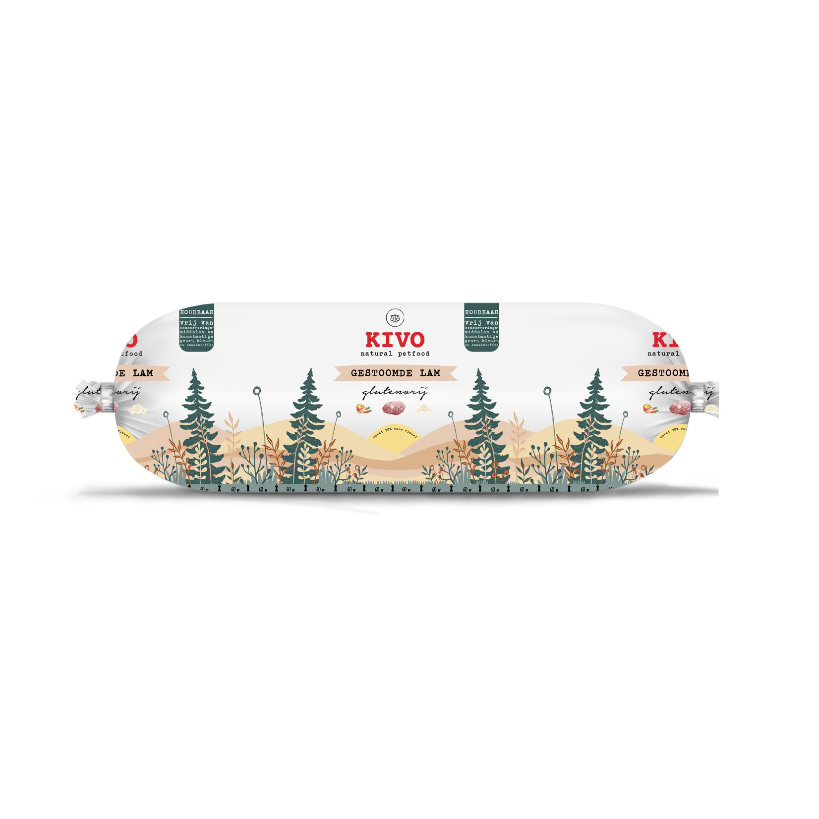 Kivo Kivo Worst Gestoomd 600 gram