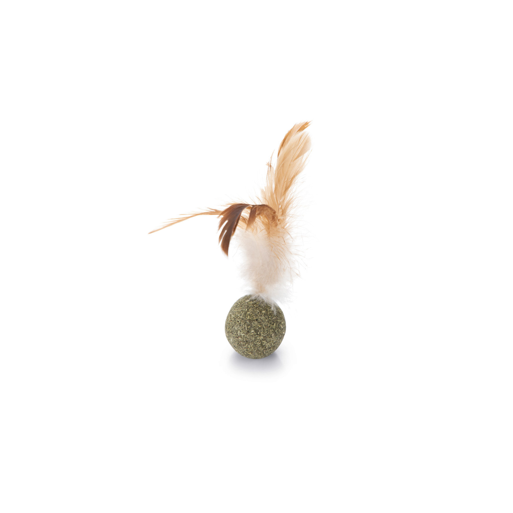 Beeztees Catnip bal met veren