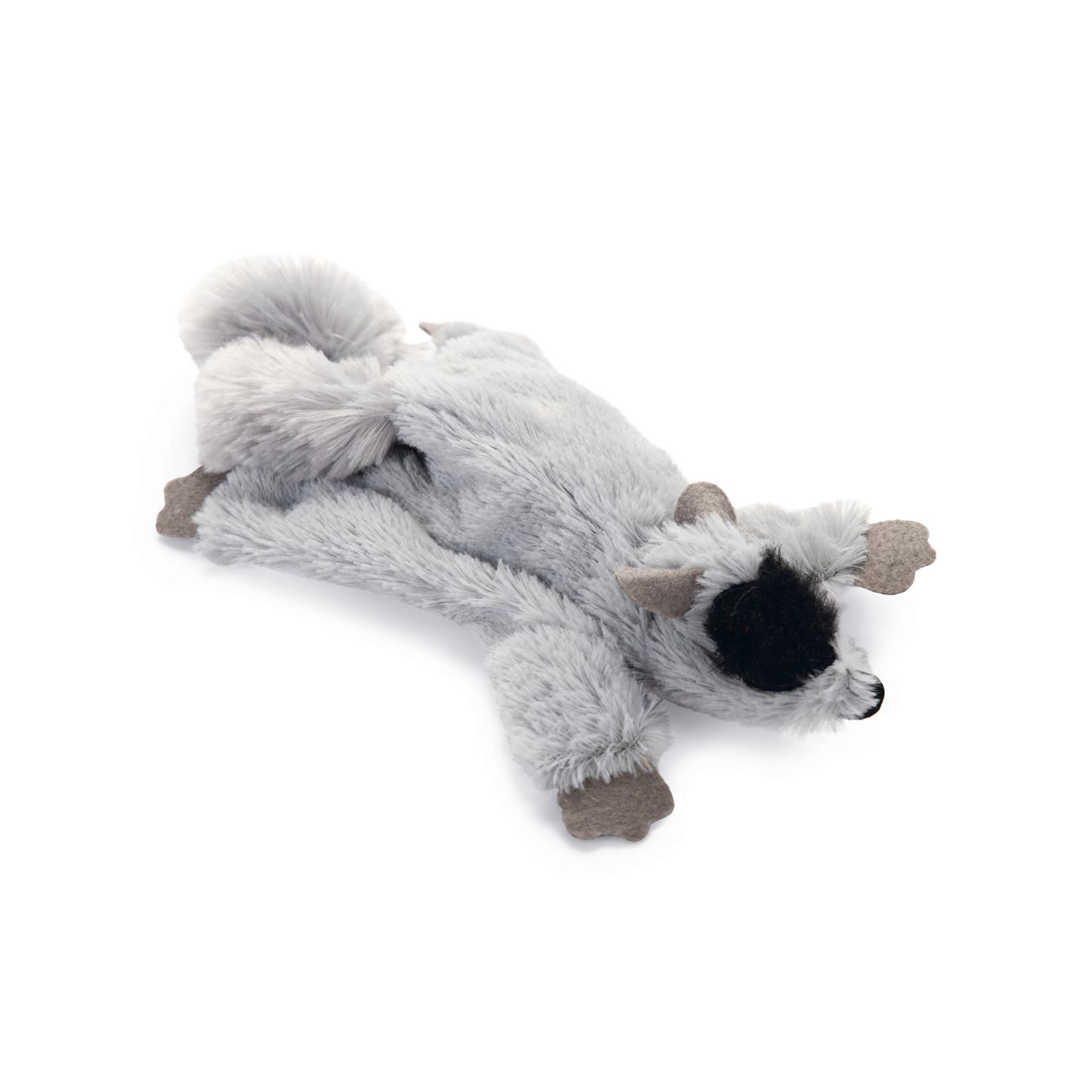 Beeztees Catnip speeltje platte Tex grijs