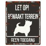 D&D Waakbordje Warning Sign Vierkant Zwart (diverse rassen)