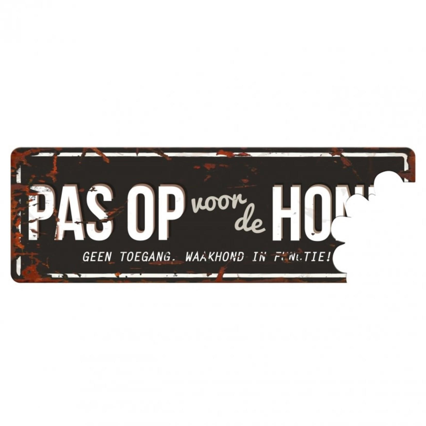 "D&D Waakbordje Warning Sign 'Beware of the Dog"" Zwart"
