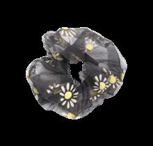 Scrunchie zwart met bloem