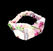 Haarband roze met bloemenprint