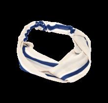 Haarband creme met marine streep