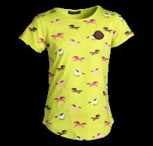Meisjes shirt paarden neon km