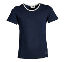 Meisjes shirt marine/offwhite detail