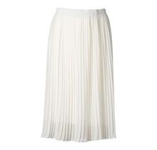 Dames plisse rok wit kort