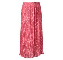 Dames plisse stippen roze lang