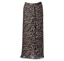 Dames plisse zebra donker creme lang