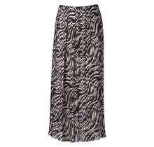 Dames plisse zebra creme lang