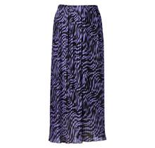Dames plisse zebra paars lang