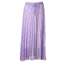 Dames plisse touwtjes lila lang