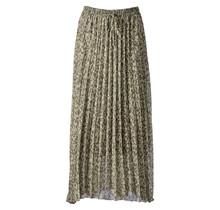Dames plisse touwtjes panter groen lang