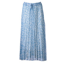 Dames plisse touwtjes lichtblauw lang