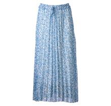 Dames plisse touwtjes panter lichtblauw lang