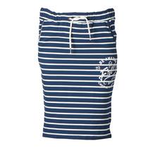Dames rok tricot gestreept/witte accenten print