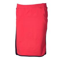 Dames rok tricot rood/brede marine randen