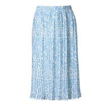 Dames rok plisse panter lichtblauw kort