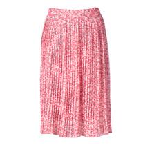 Dames rok plisse panter roze kort