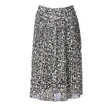 Dames rok plisse panter zwart/creme kort