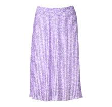Dames rok plisse panter lila kort