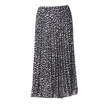 Dames rok plisse panter lang