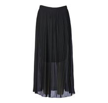 Dames plisse rok zwart lang