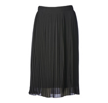 Dames plisse rok zwart kort