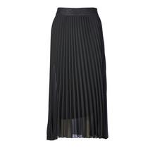 Dames plisse rok zwart glitterband
