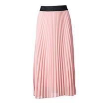 Dames plisse rok oud roze glitterband