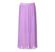 Dames plisse rok lila lang